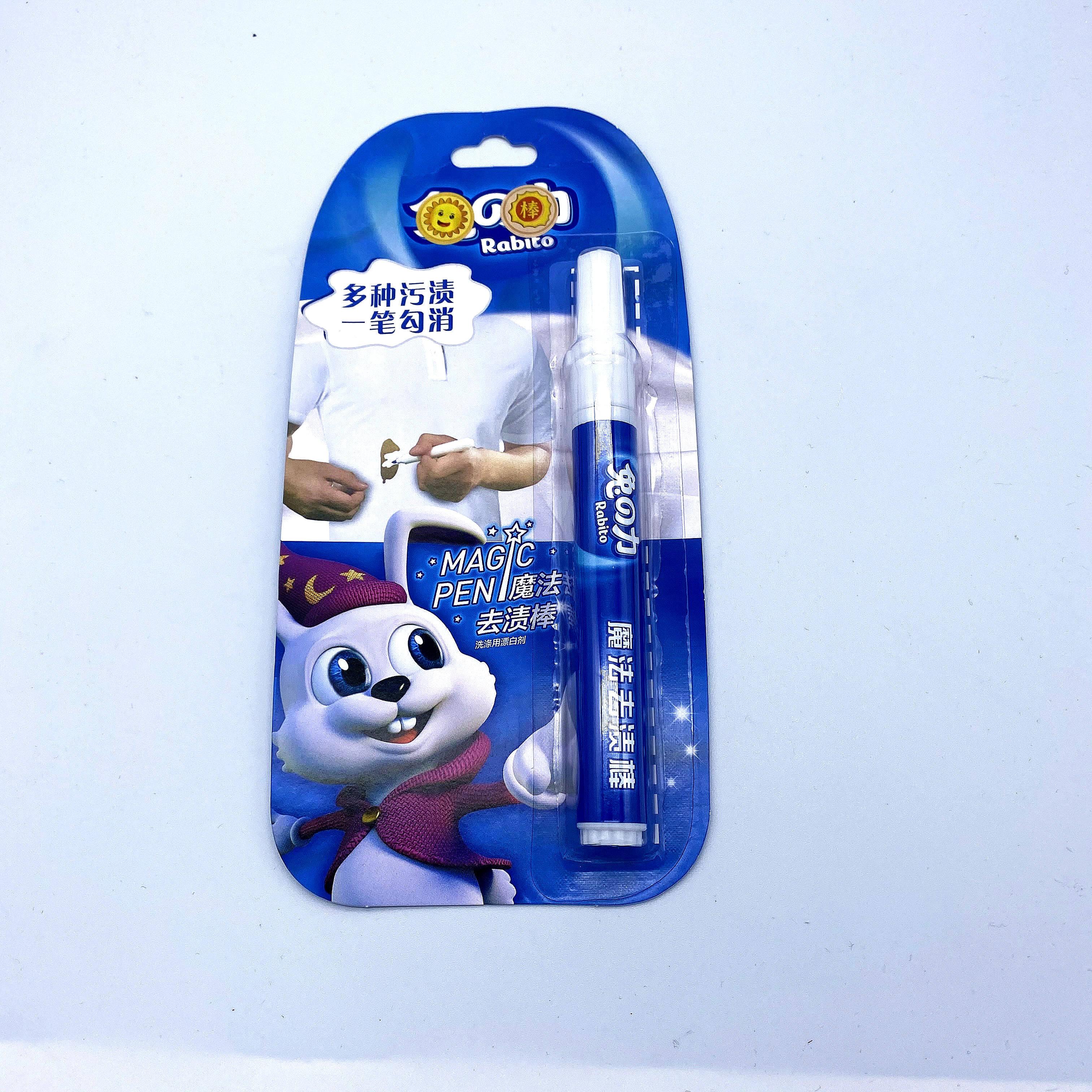 10ml Caneta Lixívia, melhor produto de limpeza para o pano branco, fácil de levar
