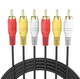 Hot selling best price high quality 1.5m AV Cable 3 rca to 3 rca av rca cable for cctv audio