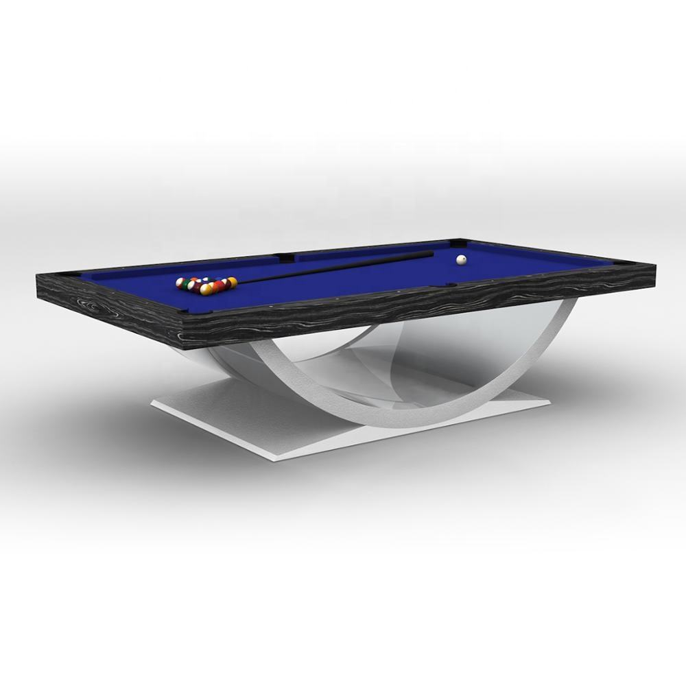 Top quality steel cushion 9ft pool tables with Meilin Rubber for sale
