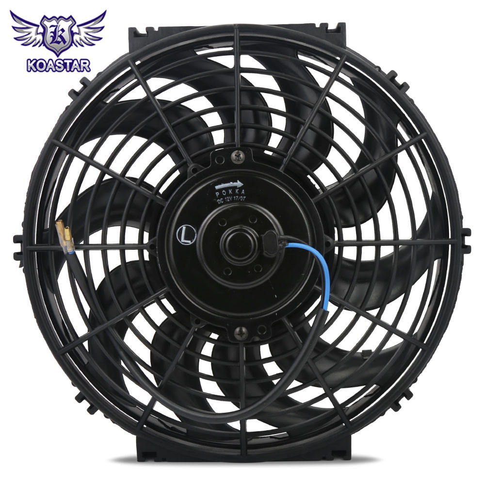 12 ''Universal自動10 S-Blades 4.5AMP Draw Push/Pull Electric Car Radiator Cooling Slim Fan 12V 80Wブレードとフレーム