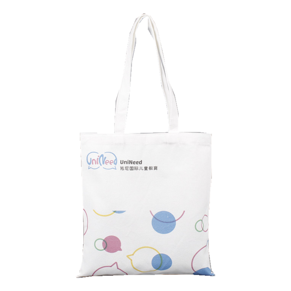 high quality cotton color printing shopping canvas tote Bag assorted color