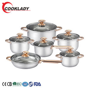 Good Quality Designer Prestige 8Pcs Non Stick Stainless Steel Cookware Set