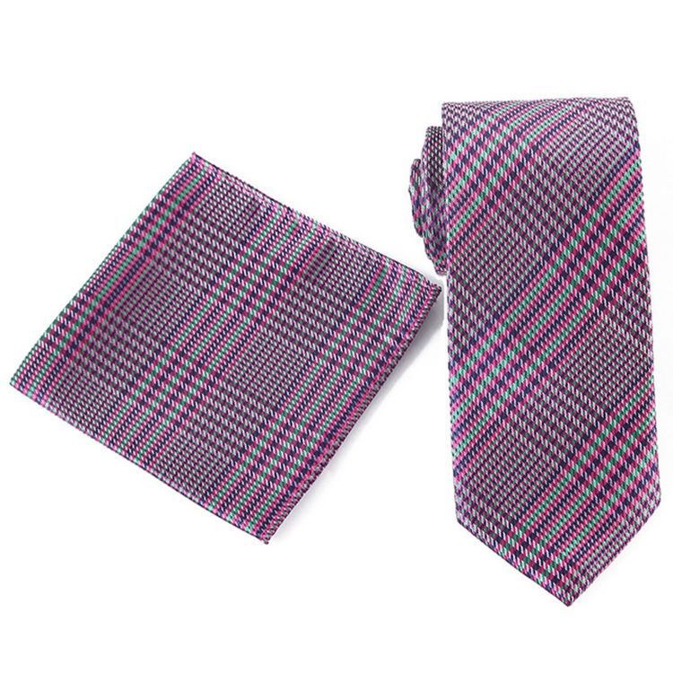 Striped Knitting Necktie Polyester Made Flat Fashion Skinny Ties For Men