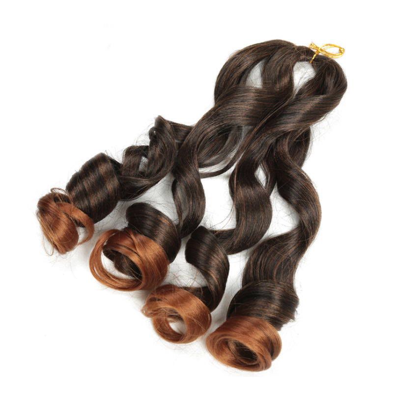 Custom 20inch wavy braids Loose Body Wave French Spiral Curly Braiding Hair afro Synthetic Crochet Spiral curly hair Extension