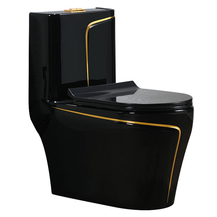 Luxury Black Style Bathroom Sanitary Ware One Piece Toilet
