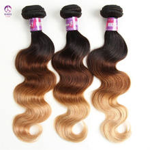 Wholesale 3 Tone Ombre Brazilian Human Hair Bundles Body Wave Virgin Remy Hair Extensions