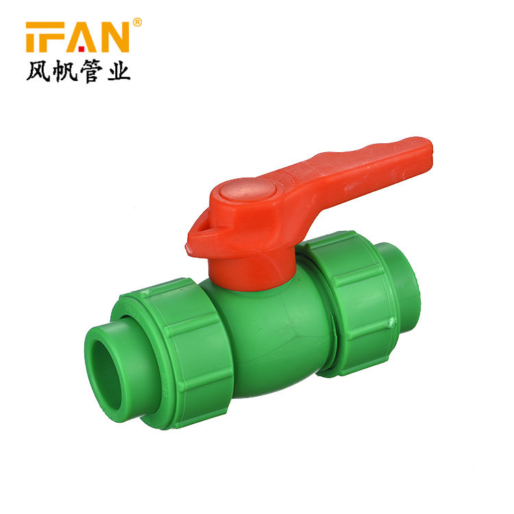 IFAN PPR Hot Sale Wholesale Plastic PPR Ball Valve Normal Brass Core 20-63mm Size PN25 PPR Pipe Fitting For Pipe
