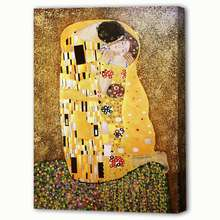 Dafen Handmade World Famous Painting Gustao Klimt The Kiss Home Decoration Wall Art Oil Painting