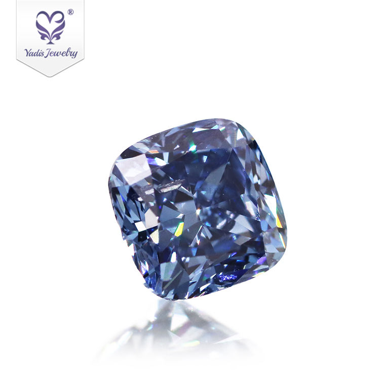 Tianyu Gems loose blue diamonds 1.136 CTW blue cushion hpht polished lab grown diamond