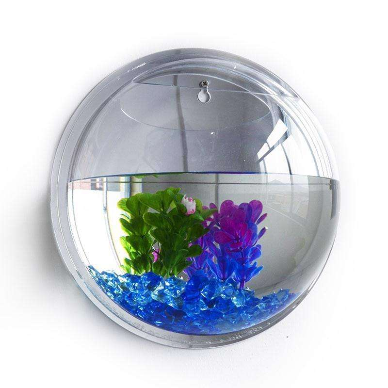 Clear Wall Mounted Fish Tank Bowl Bubble Aquarium Hanging