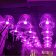 China Fiber Optic Christmas decoration Lamps led RGB jellyfish Holiday Pendant Light For Decoration