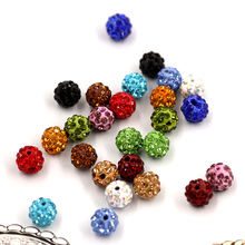 High Quality Round Polymer Clay Rhinestone Pave Crystal Shambhala Beads Disco Ball Beads For Jewelry Making Wedding Dress