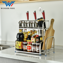 3 Tier Stainless Steel Wall Hanging Or Table Top Kitchen Storage Spice Rack
