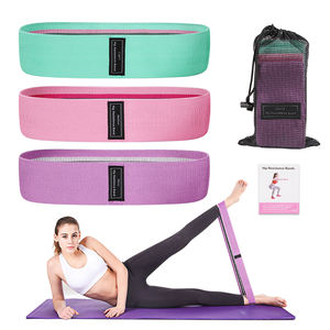 Fashion Stripe Resistance Bands Hip Circle Booty Loop Glute Leg Squat Gym Exercise Fitness Hip Bands Set, 3pcs Per Set