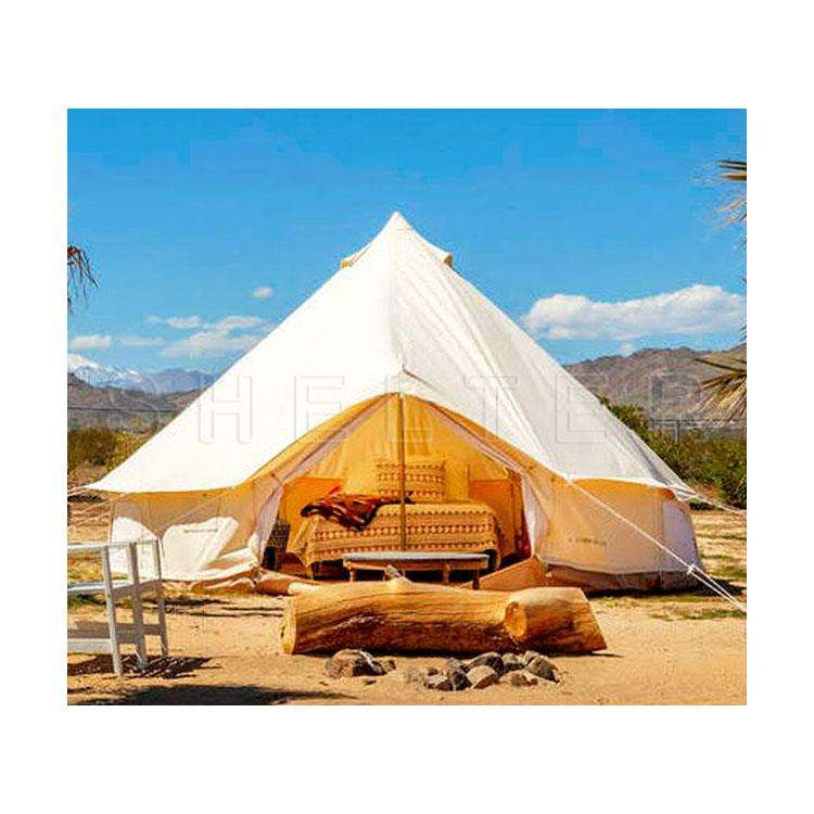 Supply Outdoor Canvascamp Family Tent 3m 4m 5m Canvas Bell Tent for Glamping