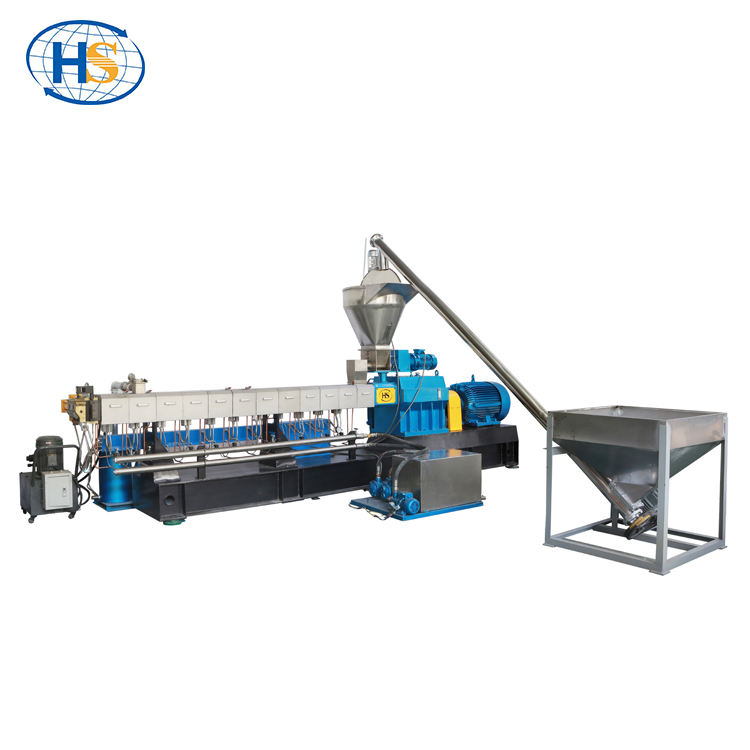 Nanjing HAISI plastic polymer compounds granules twin screw extruder price