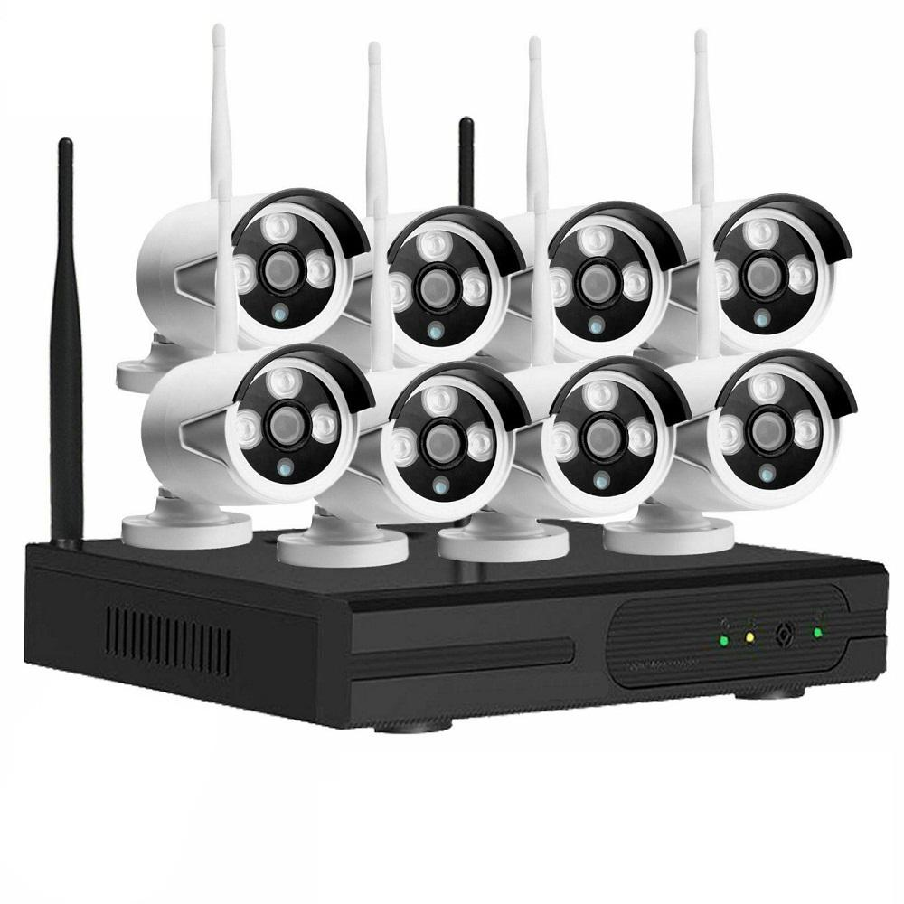 8 Channel 1080P Tuya Home CCTV Wifi NVR Kit IP66 Waterproof HD Outdoor Surveillance Security IP Camera System