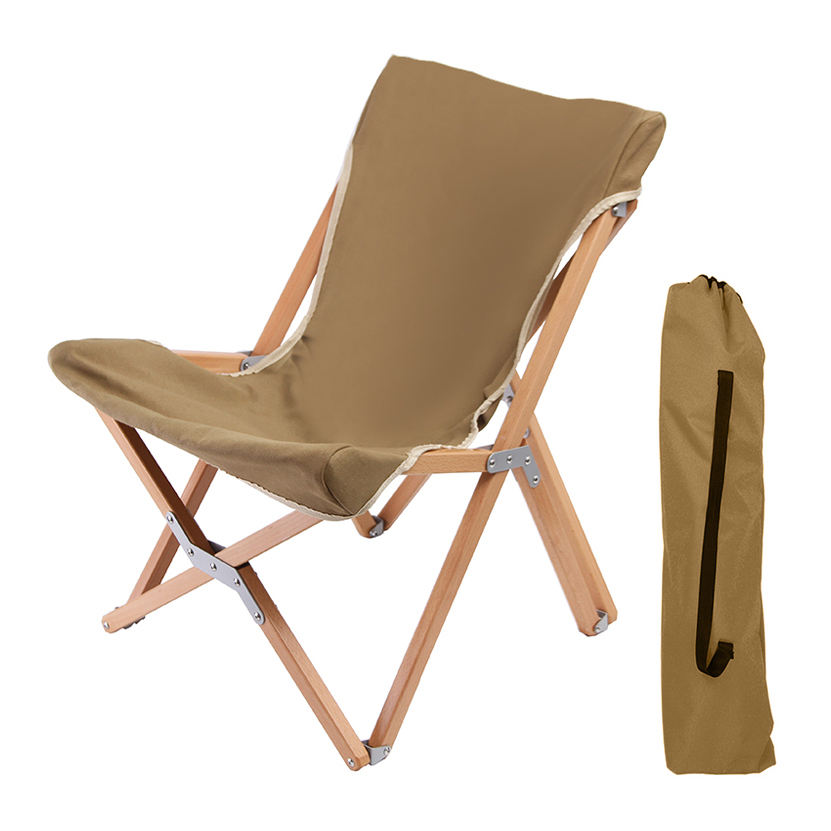 Tianye Outdoor lawn leisure folding chair high quality garden furnitures relax beech wooden chair camping wood chair