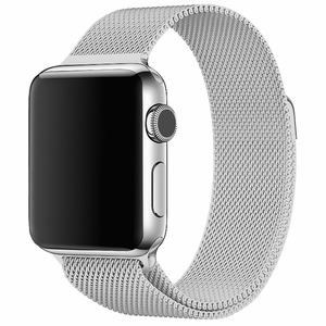 magnetic milanese loop stainless steel watch strap band replacement for apple watch 38mm 42mm 40mm 44mm