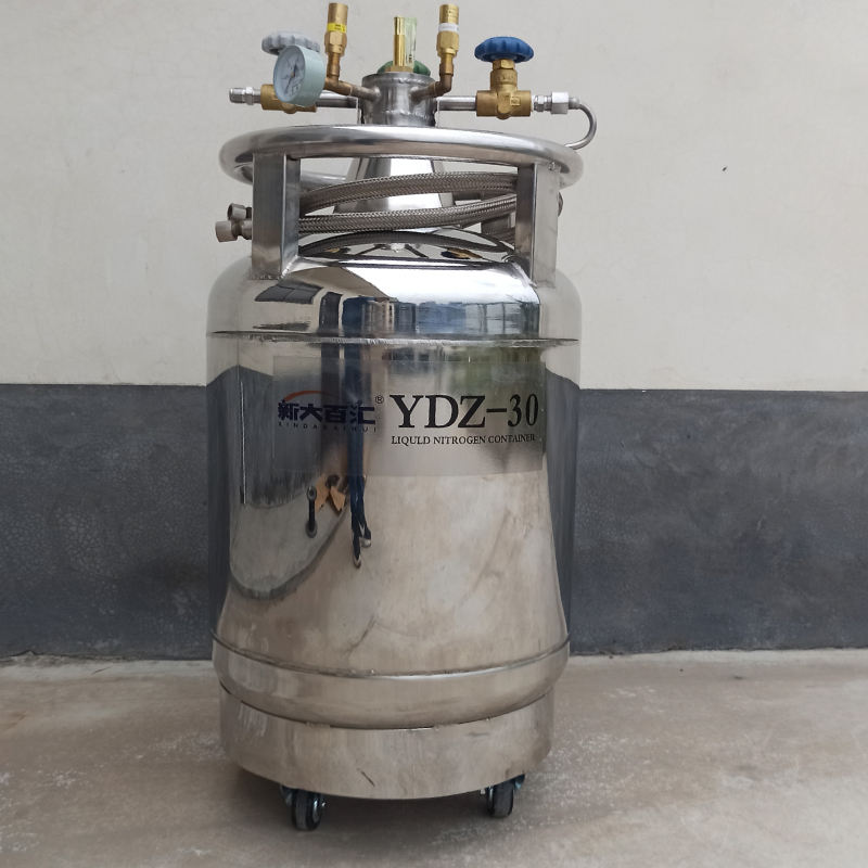 30L Stainless Steel 304 self-pressurized Liquid nitrogen cryogenic tank ice cream machine with pump/sprayer