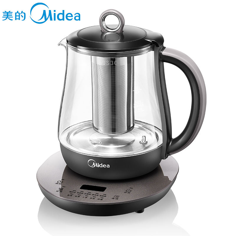 Midea 1.5L Healthy Pot Kettle High Borosilicate Glass Teapot Multifunction Electric Kettle Variable Temperature