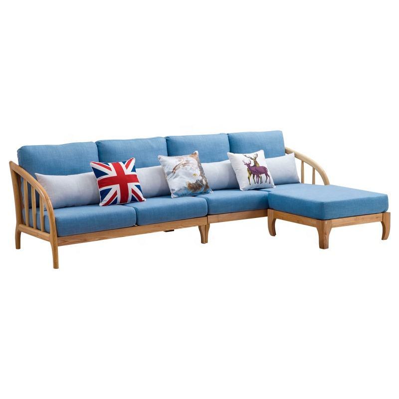 Muebles de sala modernos conjunto bajo el brazo de madera tela sofá seccional para <span class=keywords><strong>casa</strong></span>