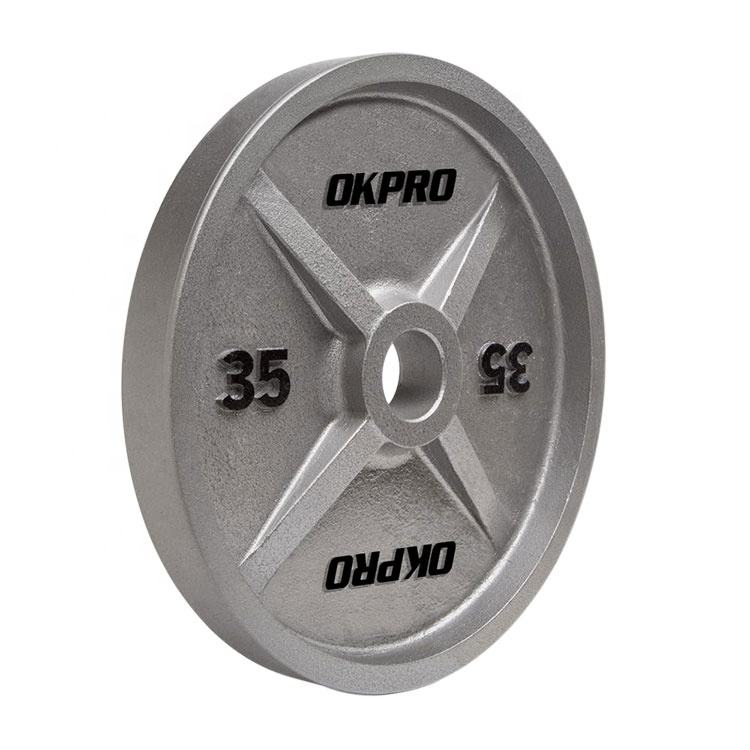 Commercial Gym Weight Plates OKPRO Cast Iron Weight Plate