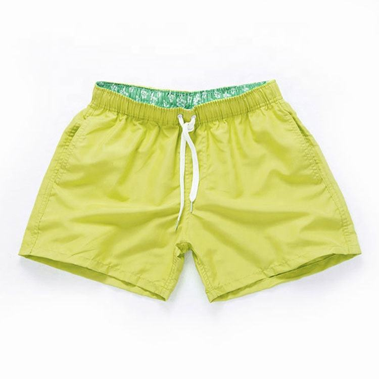 Beach pants mens waterproof board shorts blank swim trunks