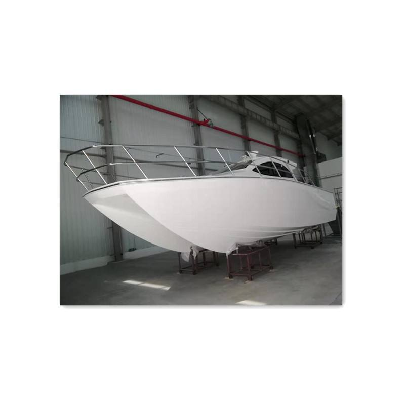 Length 35ft Fiberglass Catamaran Fishing Boat with Cabin for sale