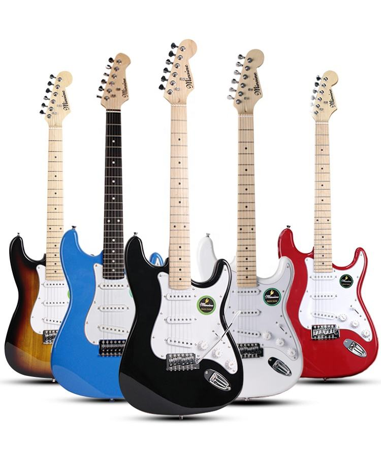 sell hot Minsine Full Size Electric Guitar OEM Factory Price DIY guitar electric