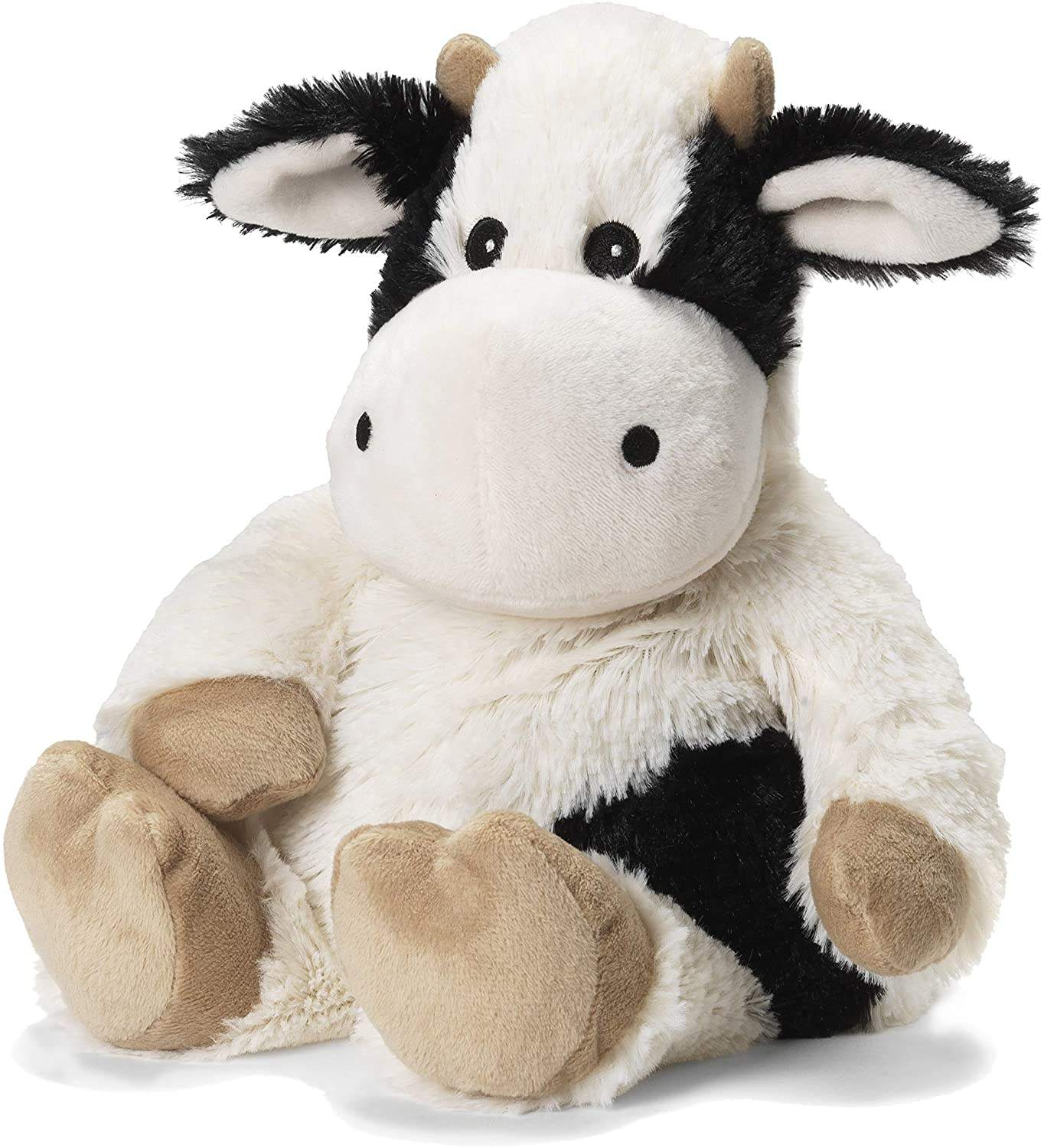 Amazon hot sale Microwavable Warm plush stuffed animals Flax seed Cozy Plush Cow Warmies soothing warmth and comfort