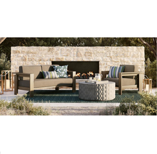 High end outdoor sectional sofas teak wood furniture patio garden conversation sofa sets