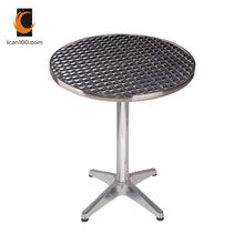Patio Durable Stainless Steel Dining Metal Round Or Square Folding Table