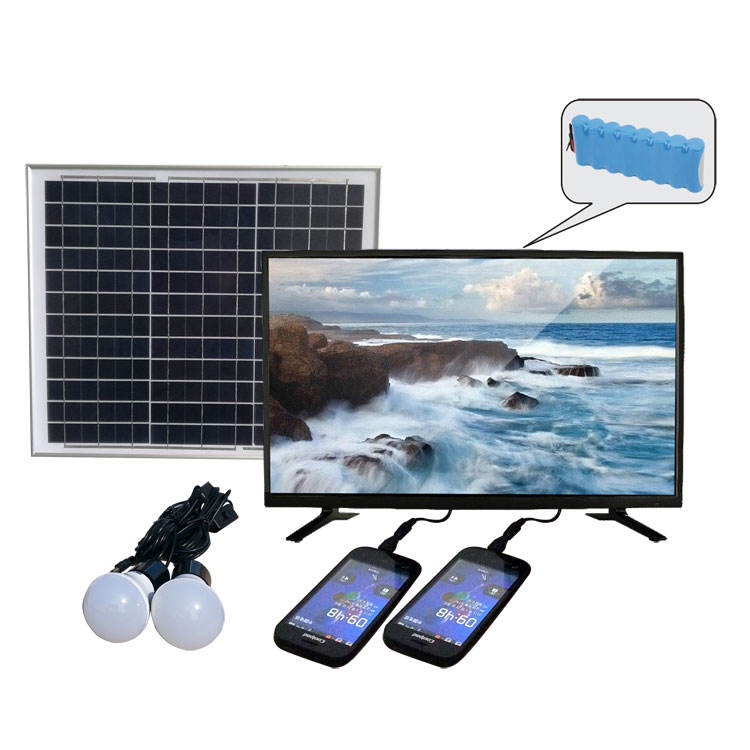 Multifunctional television rechargeable 32 inch solar LED TV