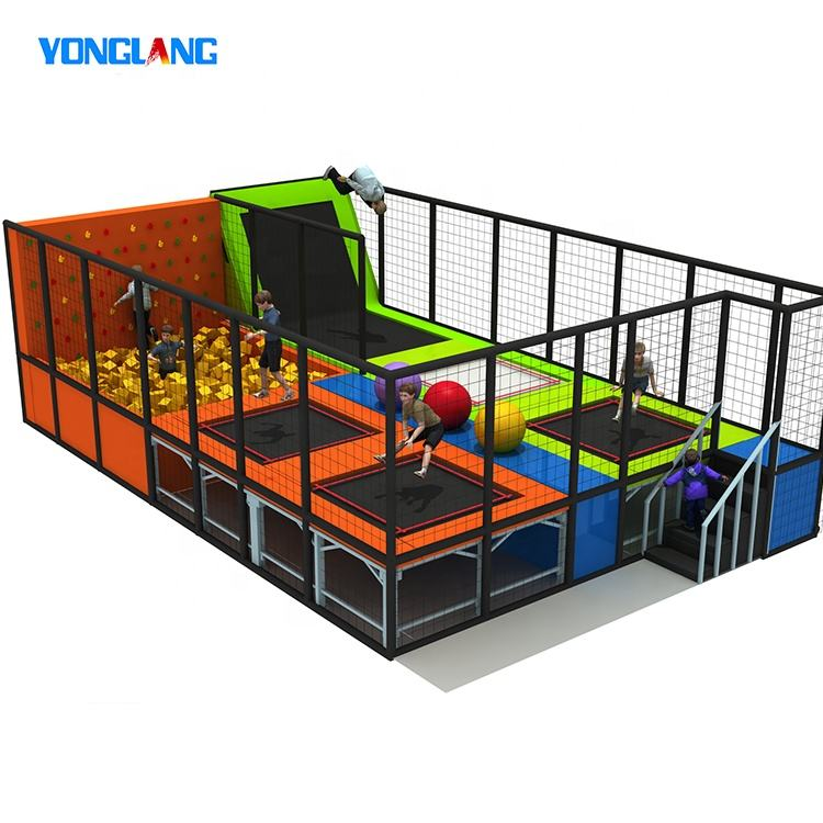 Various Size Bungee Outdoor Trampolines Park Trampoline For Sale