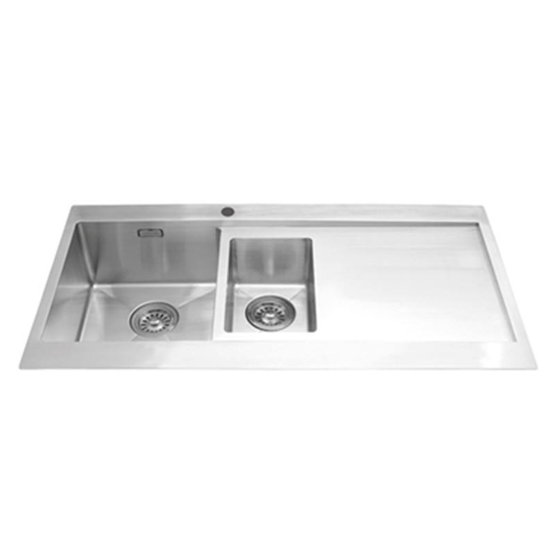 Everpro DDH-146 High quality modern stainless steel double bowls with drainer sinks foshan kitchen
