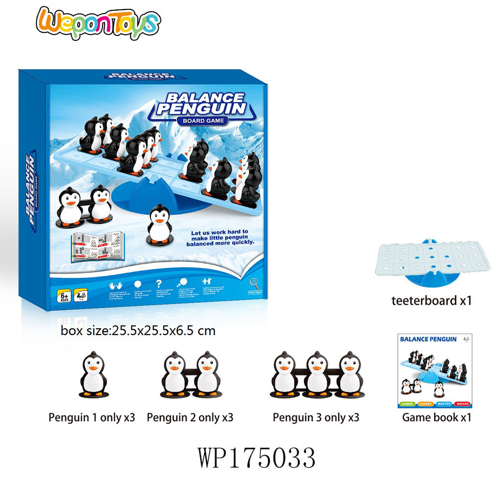 penguin balance party game improve patience and intelligence plastic board game miniatures