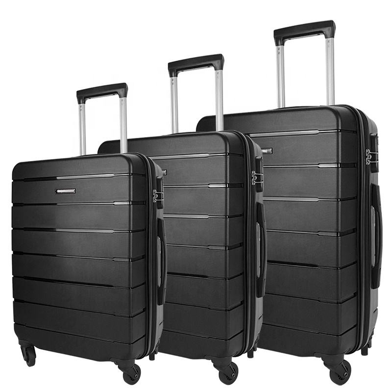 High-end PP luggage sets luggage travel bags trolley suitcase sets