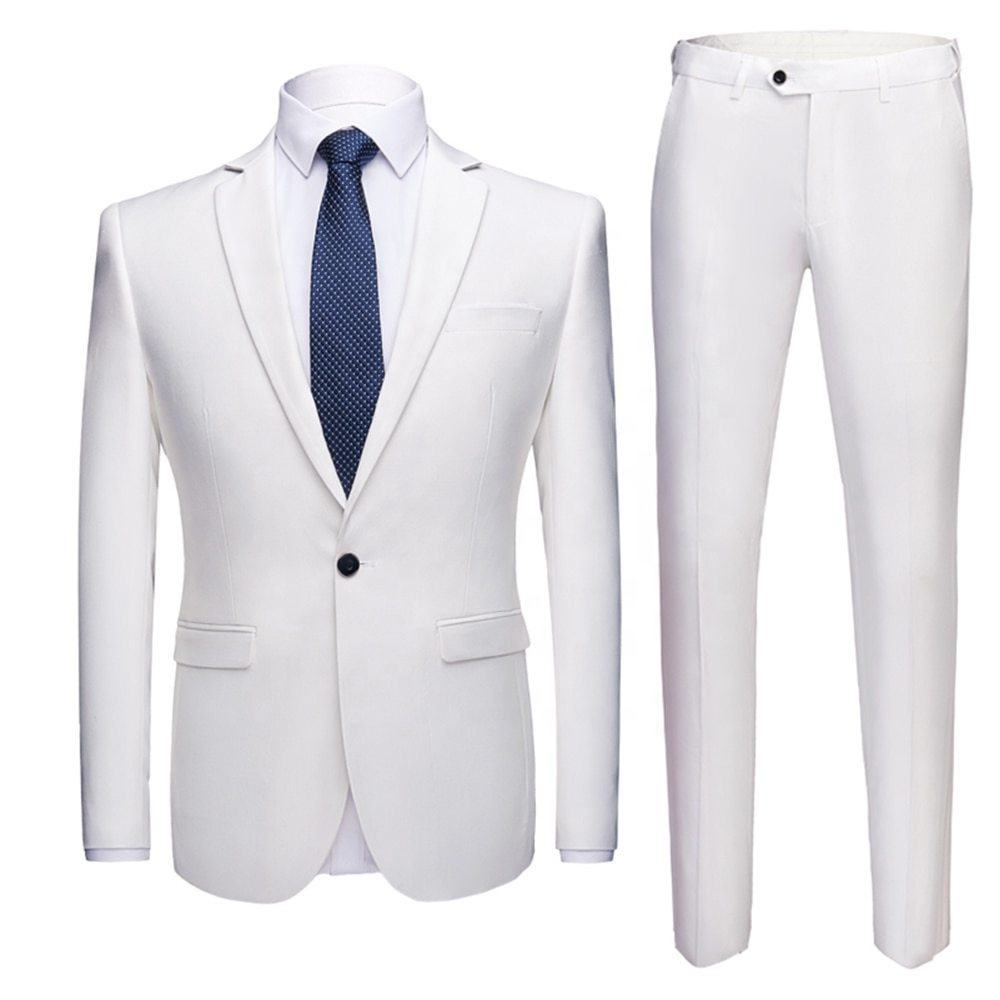 Ready to ship latest design groom wedding men's coat pant designs wedding suit