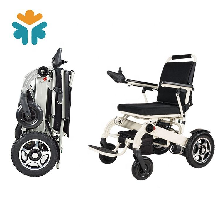 Aluminum Brush Motor Lithium Portable Folding Electric Power Wheel Chair
