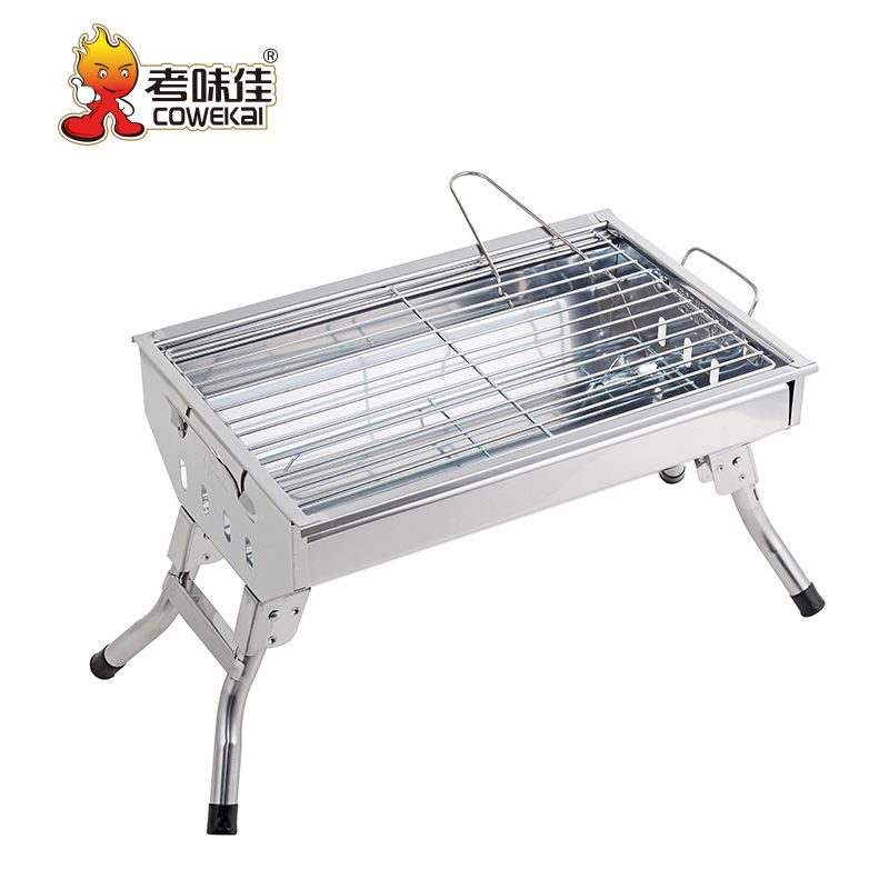 Koreaanse Outdoor Draagbare Instant Bbq Rvs Houtskool Barbecue Grill
