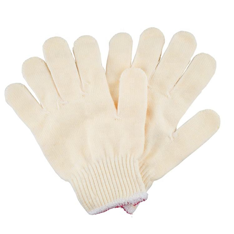 Polyester String Industrial White Cotton Knitted Hand Gloves