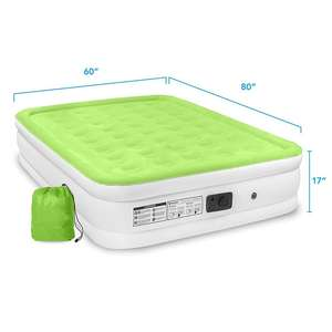 Customized Queen Size Dura-beam Inflatable Air Mattress with Built-in Pump for Camping