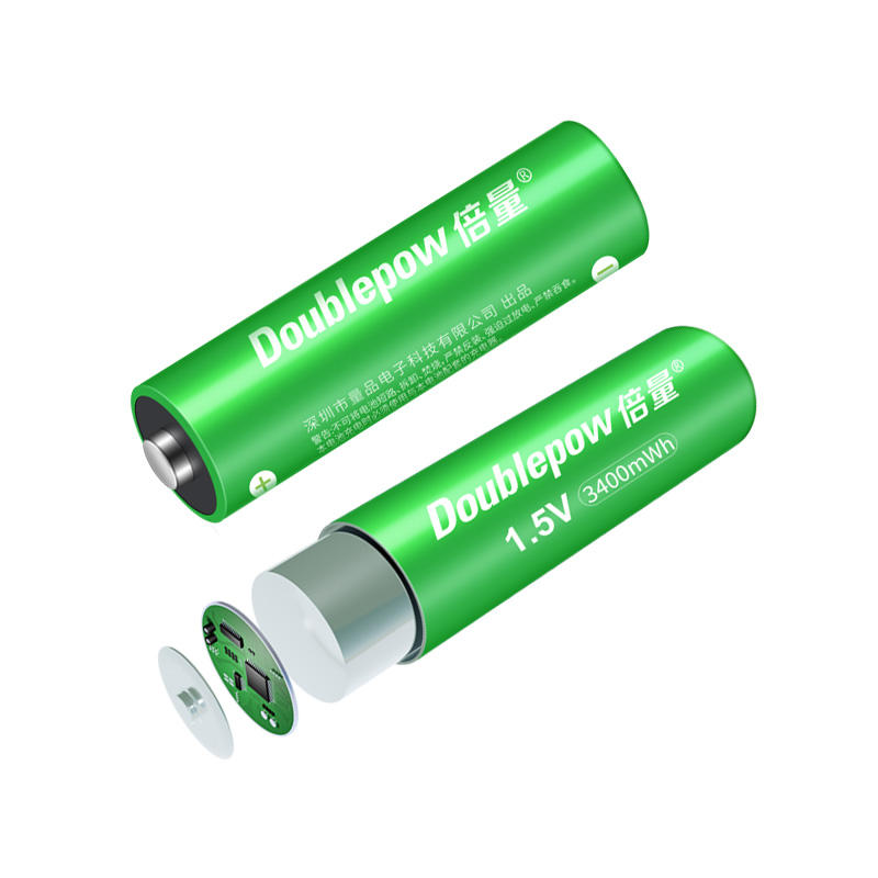 Latest breakthrough 1.5v constant voltage output 3400mWh AA size rechargeable lithium battery for high power Electronics