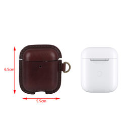 Headphone Case Brown Earphone Leather Case Earbuds Pouch holder