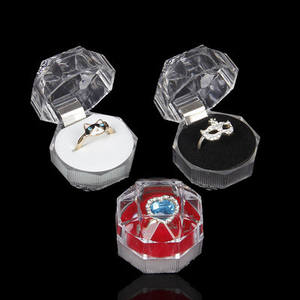 Transparent Crystal Graceful Dood Quality Gift transparent ring box Jewelry Packaging Boxes For Rings