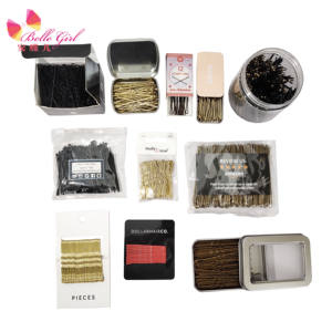 paper box package cheap hair grips bobby pins