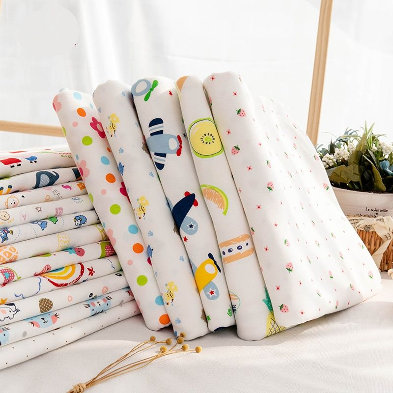 Eco-friendly 100% cotton cartoon baby prints wholesale fabric