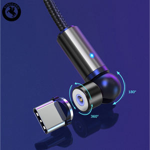 540 Degree 3 In 1 Magnetic USB Cable 2.4A Fast Charge Cable