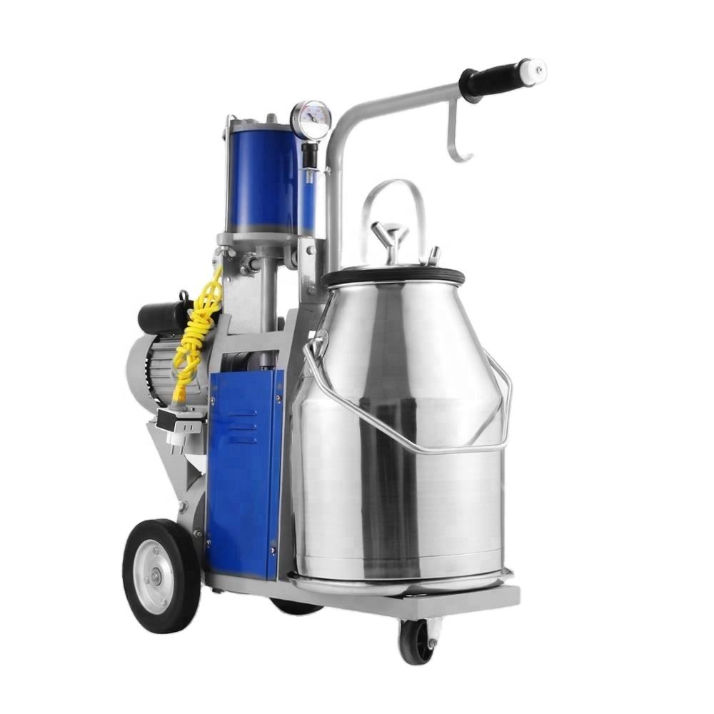 Best Equip portable Stainless Steel Bucket Milking Machine 1440 RPM 10-12 Cows per Hour Electric Milking Machine with 25L